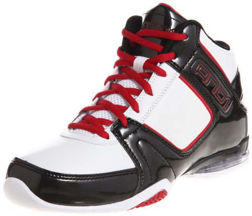 And1 Total Assist Mid 10.5 Mens White Black V Red (10.5)