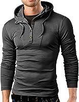 Grin&Bear Slim Fit sweat-shirt à capuche et boutons, GB120