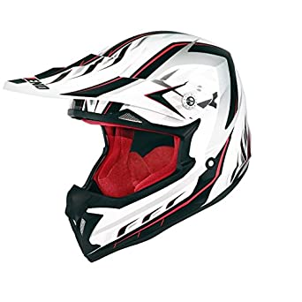 CASQUE CROSS NOEND DEFCON 5 WHITE/RED -XXL