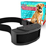 Advanced Anti - Bark Dog Collar Training System by Bark Solution® - Electric No Bark Shock Control with 7 Adjustable Sensitivity Control Levels , Stimulation of No Harm Warning Beep and Vibration, for 15-120 Pound Dogs - Includes Manual - 1 Yr Warranty