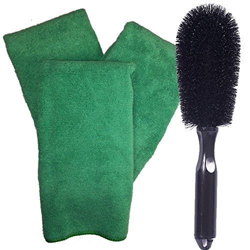 Wheel Cleaning Brush & Auto Detailing Towels