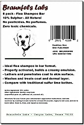 8 pack- Natural Flea Shampoo- Bar Format for Effective Dog Coat Wash- No Pesticides, Zero Harsh Chemicals, No Perfume