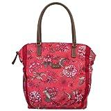Oilily Shopper Bolso Mar De Flores De Color Rojo De Cayena