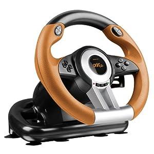 Speedlink Drift O.Z. Lenkrad für PC (Schaltknauf, Gas- und Bremspedale, XInput und DirectInput, Vibrationsfunktion, einstellbare Lenk-Empfindlichkeit)