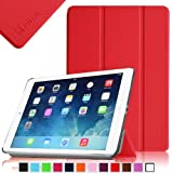 Fintie SmartShell Case for Apple iPad Air (iPad 5 5th Generation) Ultra Slim Lightweight Leather Stand (with Smart Cover Auto Wake / Sleep) – Red