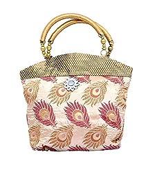 Kuber Industries Women Mini Handbag 10*10 Inches in Stylish Design With Fancy Brocade, Wed...