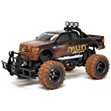 "Cool, Awesome New Bright Black 1:15 Scale Electric Mud Slinger Ford F 150 Rc Truck 9""H X 9""W X 17""L"