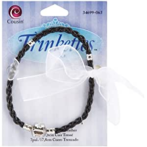 Cousin Trinkettes 7-1/2-Inch/20cm Braided Leather Bracelet