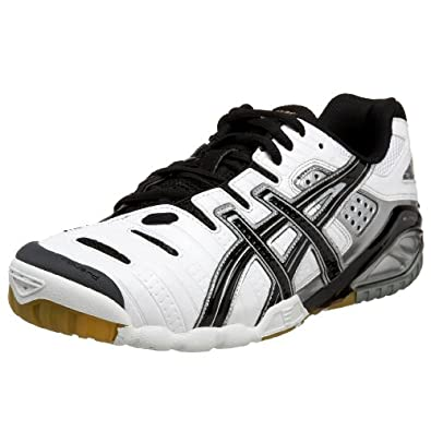ASICS Men's GEL-Sensei 3 Volleyball Shoe,White/Black/Gold,6 D US