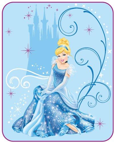 Disney Cinderella Sparkling Beauty Microraschel Blanket 62 By 90-Inch front-92127