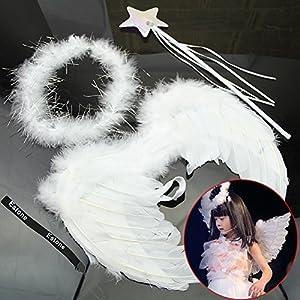 Estone® Hot Infant born Baby Kids Angel Fairy Gold Wing Costume Photo Prop from Estone
