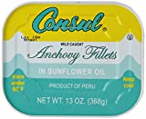 Roland Consul Flat Anchovy Fillets, 13-Ounce Can (Pack of 2)