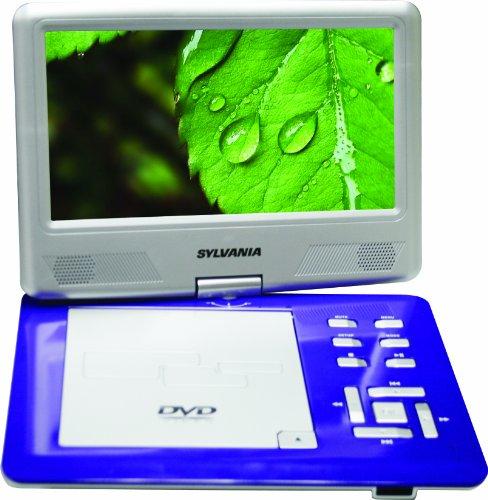 Sylvania SDVD9004 9-Inch Swivel Screen Portable DVD Player (Purple)