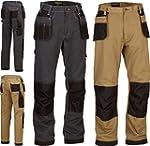 Mens Work Trousers Tuff Multi Pocket...