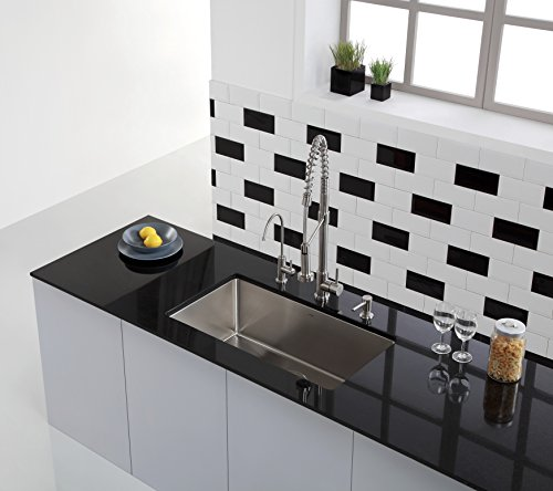 Zuhne stainless steel through the countertop built in soap - Built in soap dispenser in bathroom ...
