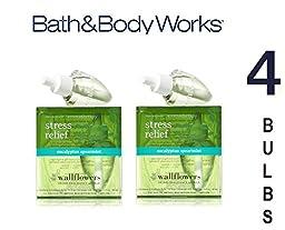 Bath and Body Works Wallflowers 4 Bulbs Refills EUCALYPTUS SPEARMINT