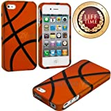 "myLife (TM) Orange Basketball Print Series (2 Piece Snap On) Hardshell Plates Case for the iPhone 4/4S (4G) 4th Generation Touch Phone (Clip Fitted Front and Back Solid Cover Case + Rubberized Tough Armor Skin + Lifetime Warranty + Sealed Inside myLife Authorized Packaging) ""ADDITIONAL DETAILS: This two piece clip together case has a gloss surface and smooth texture that maximizes the stylish at Amazon.com"