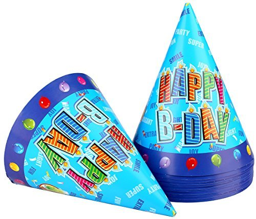 12pcs-Large-Paper-Kids-Funny-Hats-Cone-Birthday-Caps-of-Birthday-Party-Favor-Supplies-Decorations