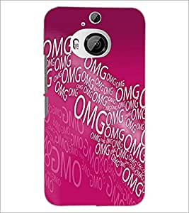 PrintDhaba Typography D-5587 Back Case Cover for HTC ONE M9 PLUS (Multi-Coloured)
