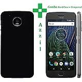 Moto G5 Plus, Back Cover, Premium COMBO Offer Tempered Glass + Hybrid Hard Back Cover Case For Motorola Moto G5 Plus (Hard Black )