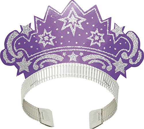 Glitter Tiara, 12 Pack, Assorted Colors