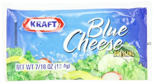 Kraft Blue Cheese Salad Dressing, 0.4375-Ounce Single Serve Packets (Pack of 200) (Single Serve Cheese compare prices)