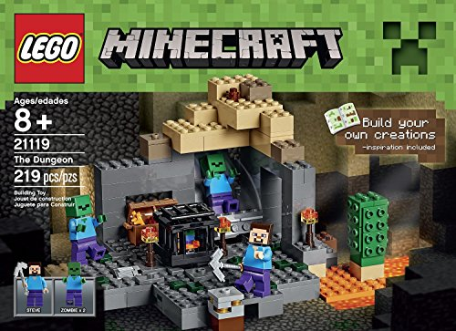 LEGO-Minecraft-21119-the-Dungeon-Building-Kit-219-Assorted-LEGO-Pieces-Includes-Steves-Pickaxe-Great-For-Your-LEGO-Fan-Kids-Order-Now-With-E-book-Gift