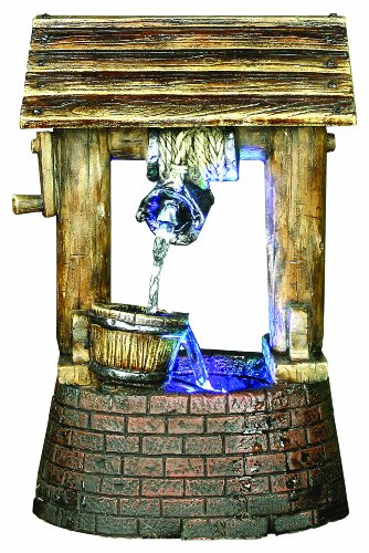 Premier BA111523 Wishing Well Lit Water Feature includes 4 Colour Changing LEDs
