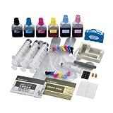 ELECOM エプソンインクジェットプリンタ専用インク+リセッター 3回詰め替えタイプ(ブラック・シアン・マゼンタ・イエロー・ライトシアン・ライトマゼンタ) THE-50KITN