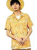 (エイト) 8(eight)3color 半袖 アロハシャツ レーヨン HOUSTON ヒューストン イエロー XL
