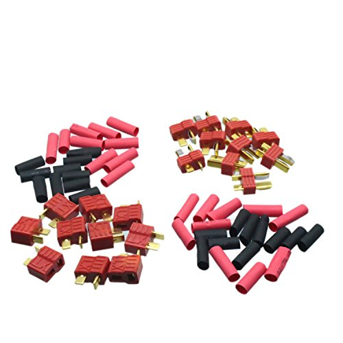 10 Pairs T-Plug Deans Connectors With Grips Gold Plated With Heat Shrink (Deans Connector With Heatshrink compare prices)