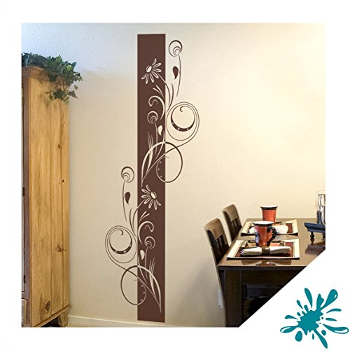 wandtattoo adela florales wandbanner inkl swarovski ban04 t rkisblau 120 x 40 cm mit farb. Black Bedroom Furniture Sets. Home Design Ideas