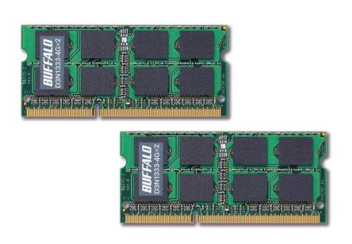 BUFFALO ノートPC用増設メモリ PC3-10600(DDR3-1333) 4GB×2枚組 D3N1333-4GX2/E