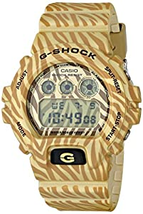 Casio G-Shock Classic Gold Zebra Striped Mens Watch DW6900ZB-9CR