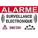 panneau de dissuasion alarme électronque 160x100mm