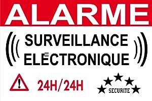 """panneau signalétique de dissuasion """"alarme électronque"""" 300x200mm"""