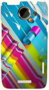 Wonderful multicolor printed protective REBEL mobile back cover for HTC One X+ ( X Plus ) D.No.N-L-18051-htcX