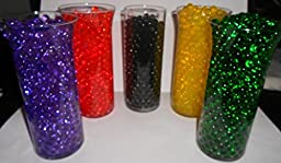 20pk Water Storing Gel Beads - All Event Vase Fillers - You Get 20 Different Colors - USA Made Original Water Beads
