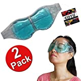 2 Pack of COTU (R) No Eye Hole Reusable Hot Cold Therapy Spa Gel Eye Mask