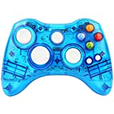 Kycola GC21 Wireless LED Gamepad Controller for Xbox 360 and PC(Blue)