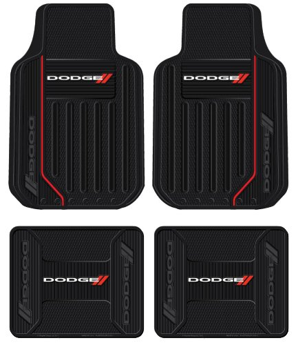 Dodge Ram Elite Series Front & Rear Car Truck SUV Seat Rubber Floor Mats (Ram Car Mats compare prices)