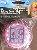 Disney Wilton BAKING MUFFIN & Party CUPS 50 Pack HANNAH MONTANA Pop Rock Glam CUPCAKE LINERS
