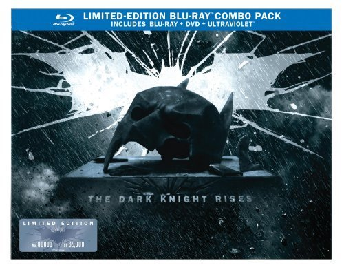 The Dark Knight Rises: Limited Edition Bat Cowl (Blu-ray/DVD Combo+UltraViolet Digital Copy) by Warner Brothers (Batman Bat Cowl compare prices)