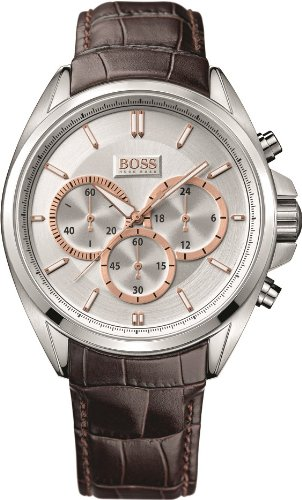 Hugo Boss Mens Brown Leather Strap Chronograph Watch - 1512881