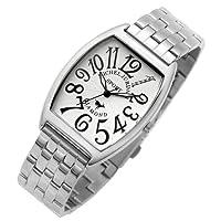 [ミッシェルジョルダン]michel Jurdain 腕時計 ダイヤモンド 5P 入り トノー型  メタル ベルト メンズ ウォッチ ホワイトxブラック SG-1000A-11B メンズ