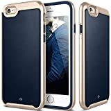 IPhone 6S Plus Case, Caseology® [Envoy Series] Premium Leather Bumper Cover [Leather Navy Blue] [Leather Bound...