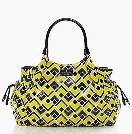 Kate Spade Stevie Fabric Firefly Baby Bag / Diaper Bag front-338270