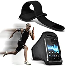 buy ( Black ) Htc Butterfly 3 Case (Dimensions 151 X 73 X 10 Mm) Cover For Htc Butterfly 3 High Quality Fitted Sports Armbands Running Bike Cycling Gym Jogging Ridding Arm Band Case Cover By I-Tronixs