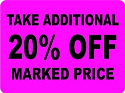 TAKE ADDITIONAL 20% OFF MARKED PRICE Labels. 5,000 Labels. PromoTouch Compatible