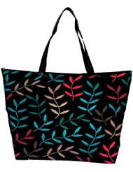 Snoogg Colorful Leaves Branches Designer Waterproof Bag Made Of High Strength Nylon